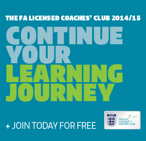 The FA Licenced Coaches' Club is FREE to join